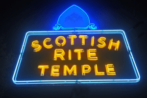 Scottish Rite Temple sign