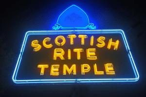 Scottish Rite Temple sign