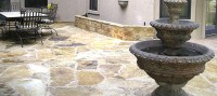 Austin flagstone outdoor fireplaces