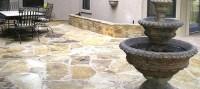 Austin flagstone outdoor fireplaces