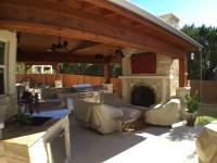 austin outdoor fireplace | Austin Decks, Pergolas, Covered ...