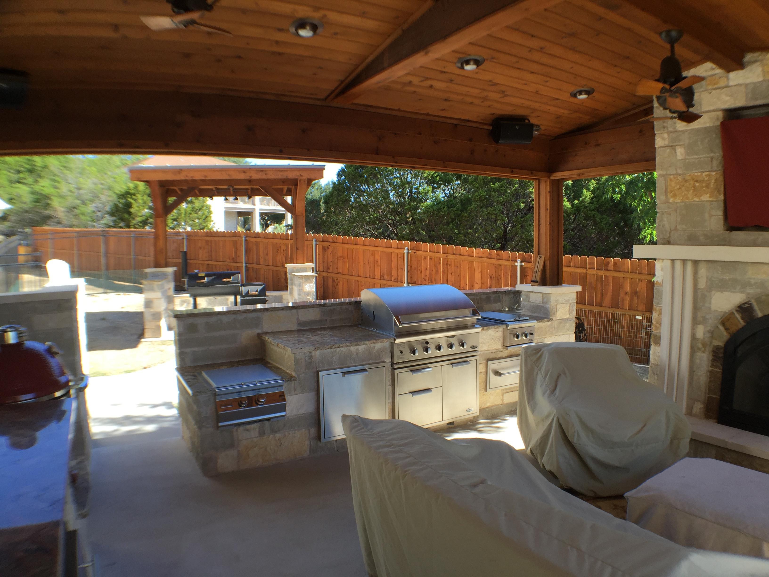 Lago Vista TX patio cover  Austin Decks Pergolas