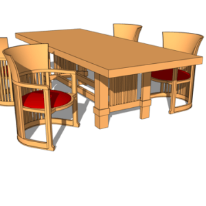 3d model of table by david heim austin school of furniture and design
