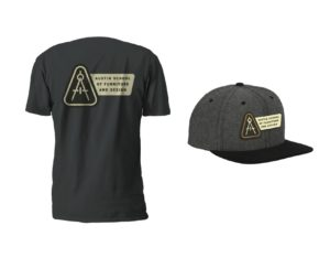 Furniture School hat and t-shirt Austin School of Furniture and Design