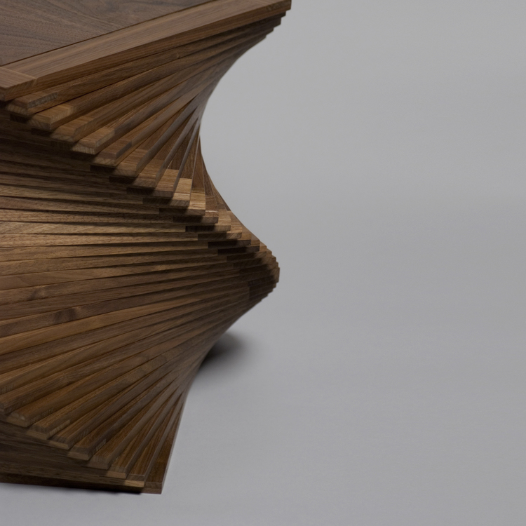 spiral table by leslie webb Natasha Occasional Table