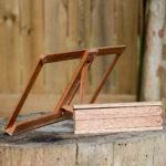 wood bookstand on stump of wood ASFD