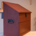 side view of wooden dutch tool chest by Patrick Brennan