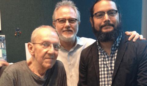 John Aeilli of the Eklektikos program on KUTX, FM 98.9 in Austin, chat with Albert and Jake in the studio on Aug. 1