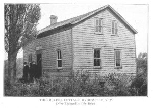 The Fox house. This structure has been moved to the Lily Dale spiritualist community.