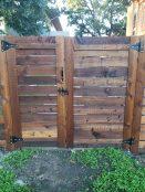 Horizontal Wood Fence & Gate