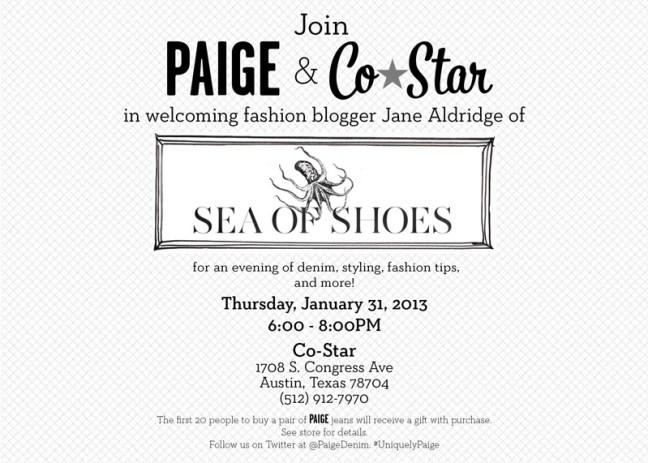 Upcoming Event: Fashion Blogger Jane Aldridge of Sea of