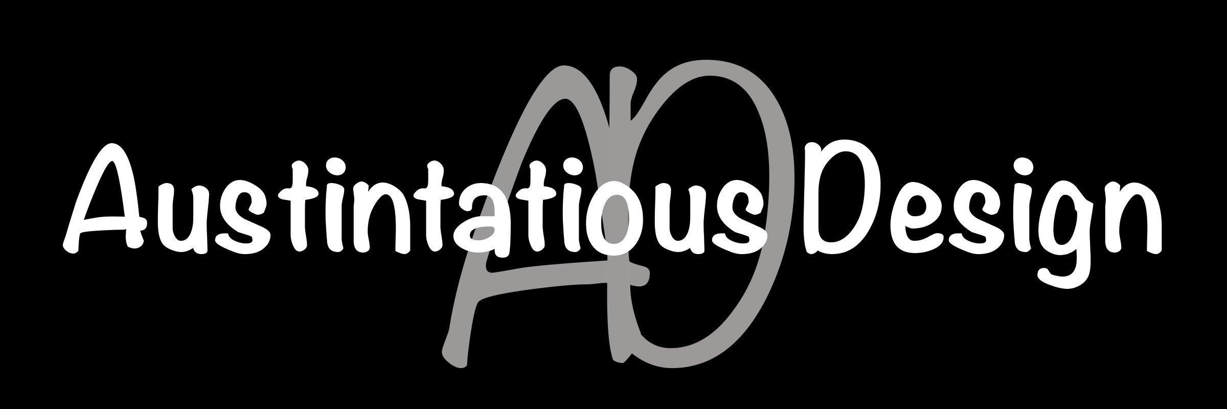 austintatious design white on black logo