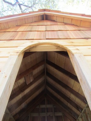Gorgeous ceiling and gable through front window