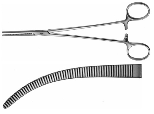 AE-BH211R, HALSTED- MOSQUITO ARTERY FORCEPS CURVED 200 mm, 8