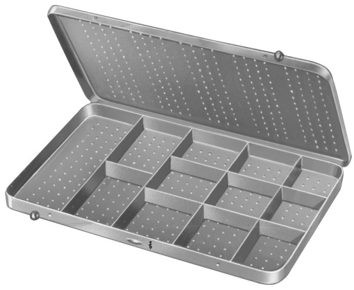 AE-BL943R, NEEDLE CASE with 12 compartments 205 x 120 x 12 mm