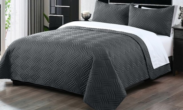 Three Piece Embossed Comforter Set: Queen ($35), King ($45) (Dont Pay up to $149)