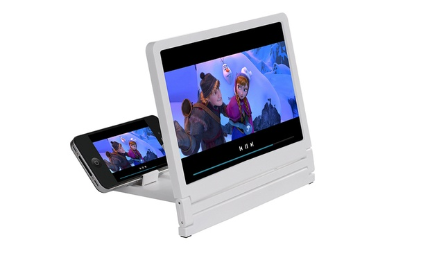 HD Smartphone Screen Magnifier with Stand: One ($12) or Two ($22)