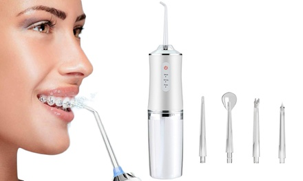 Electric Cordless Water Flosser with Four Nozzles: One ($29) or Two ($45)