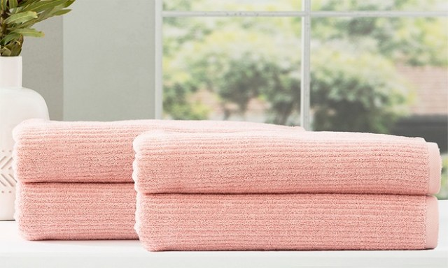 From $35 for 650GSM Cobblestone Cotton Quick Dry Bath Sheets and Towels (Dont Pay up to $363.30)