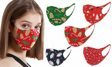 Christmas Themed Face Masks for Adults and Kids: 5 Pack ($12) or 10 Pack ($16)