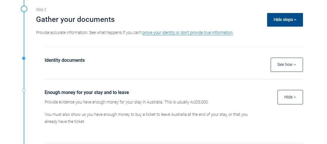澳洲打工度假 417簽證 - 財力證明