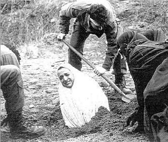Muslim woman stoned