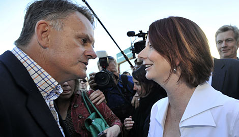 Gillard meets Latham