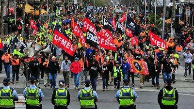 CFMEU Protest in Melbourne