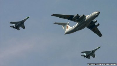 Ukranian il 76 transport aircraft