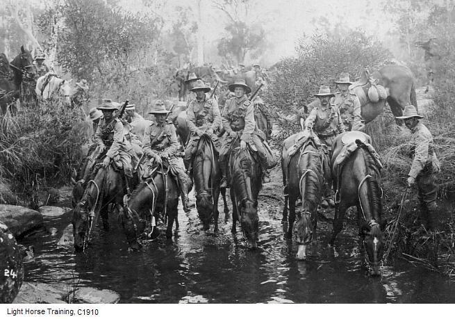 Australian Light Horse Training Holsworthy 1910