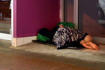 Homeless Australian woman