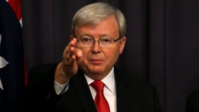 Red Tie Kevin Rudd