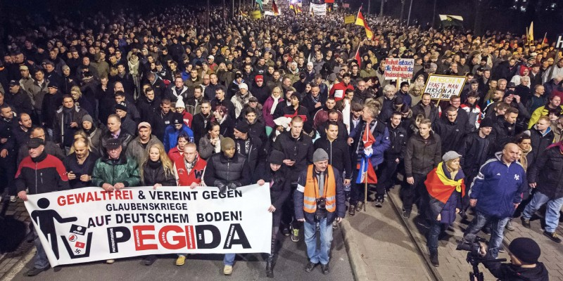 PEGIDA protest against growing Muslims