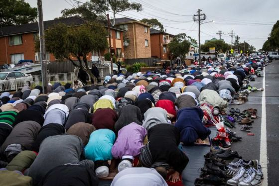 Muslims takeover Lakemba for Islamic ritual