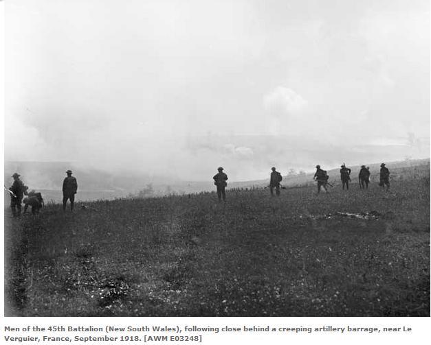 Australian (NSW) 45th Battalion at Le Verguier Sept 1918