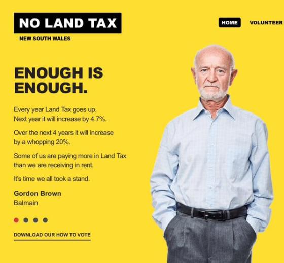 No Land Tax Volunteer