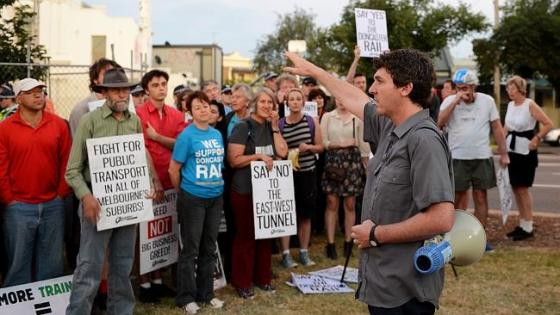 Anthony Main co-ordinates lefties protests in Melbourne