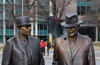 John Curtin + Ben Chifley monument