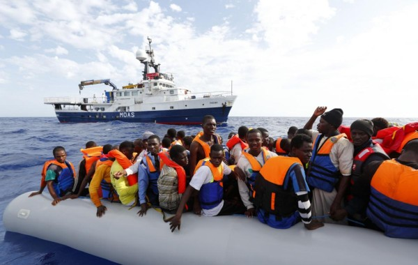 MOAS Phoenix trafficking African illegals to Italy