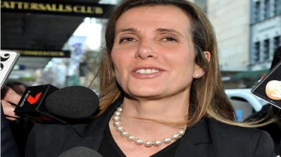 Kathy Jackson wears the pearls