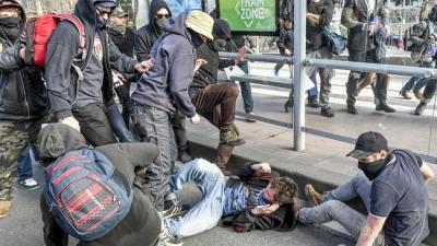 Antifa Headstomping