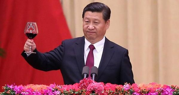 China President Xi Jinping with a Penfolds red