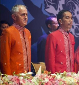 Sergeant Pepper Malcolm Turnbull and Jokowi
