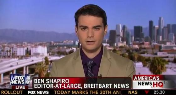 Ben Shapiro, Breitbart US Editor-at-Large