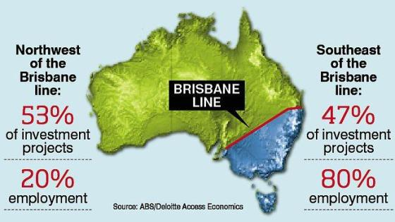 New Brisbane Line according to Deloitte Access Economics