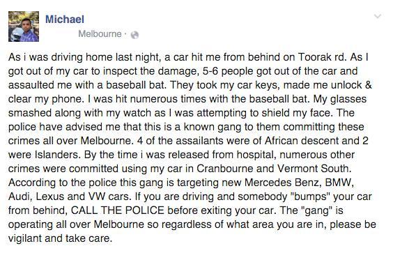 Negro Carjacking Rampage in Melbourne