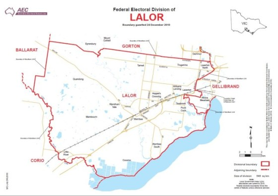 Seat of Lalor AEC Map