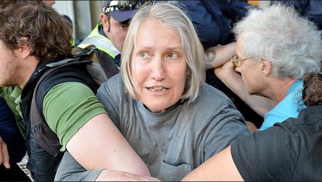 Sue Bolton leftist protestor