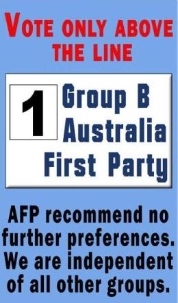 Blacktown Election Vote 1 Australia First Party