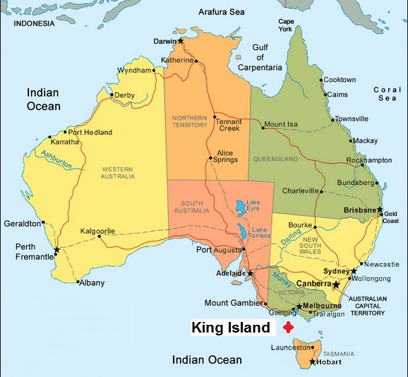Map Of Australia King Island.King Island Abattoir Australian Abattoirs